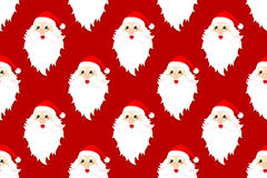Santa claus seamless pattern. Vector illustration Stock Photo