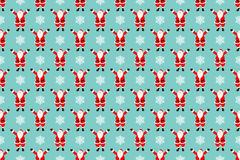 Santa claus seamless pattern. Vector illustration Stock Images