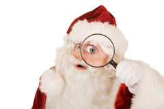 Santa claus searching Royalty Free Stock Photography