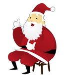 Santa Claus Seated Immagini Stock Libere da Diritti