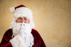 Santa Claus secret. Christmas holiday concept royalty free stock photography