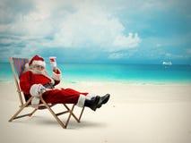 Santa Claus semester Arkivfoton