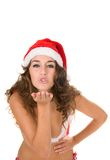 Santa claus sending a kiss to the people Stock Photography