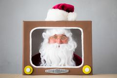 Santa Claus. Senior man. Christmas Xmas holiday concept Stock Photo