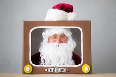 Santa Claus. Senior man. Christmas Xmas holiday concept stock photo