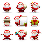 Santa claus set Royalty Free Stock Photos