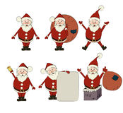 Santa claus set Royalty Free Stock Images