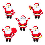 Santa Claus Set Stock Illustratie
