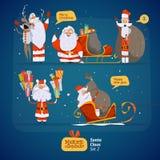 Santa Claus set Stock Image