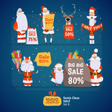 Santa Claus set Stock Photography