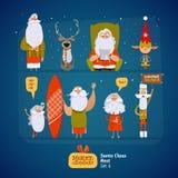 Santa Claus set Stock Photo