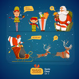 Santa Claus set Royalty Free Stock Photography