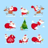 Santa Claus set image. Vector, illustration vector illustration