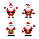vector Santa claus set Stock Image