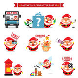 Santa Claus  sets Stock Images