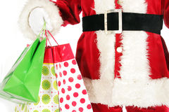 Santa claus shopping Stock Photo