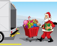 Santa Claus Shopping Stock Image