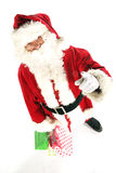 Santa claus with shopping bag Stock Image