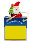 Santa Claus in shopping bag Royalty Free Stock Photos
