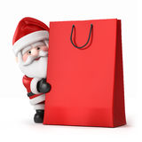 Santa Claus and a shopping bag Stock Image