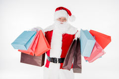 Santa Claus with shopping bags Stock Image