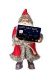 Santa Claus shopping. Stock Photo