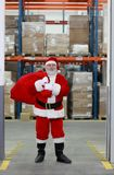 Santa Claus after shopping ready for Christmas Stock Images