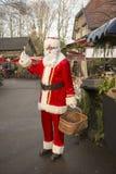 Santa claus shopping in town Royalty Free Stock Photos