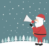 Santa Claus shouting in a megaphone Royalty Free Stock Photo