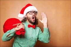 Santa Claus shouts Royalty Free Stock Photo