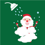 Santa claus shower smile  Royalty Free Stock Photos