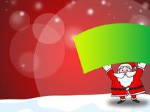 Santa Claus showing blank banner Royalty Free Stock Image
