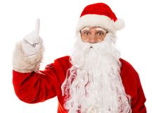 Santa Claus showing with gestures Royalty Free Stock Image