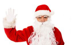 Santa Claus showing with gestures Royalty Free Stock Photos