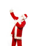 Santa Claus showing with gestures Royalty Free Stock Photography