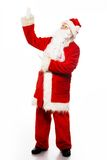 Santa Claus showing with gestures Stock Photos