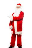 Santa Claus showing with gestures something Royalty Free Stock Photo