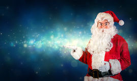 Santa Claus Showing Royalty Free Stock Photography
