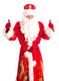 Santa Claus showing OK. Royalty Free Stock Photo