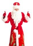 Santa Claus showing OK. Royalty Free Stock Photo