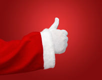 Santa Claus showing thumbs up Stock Photography