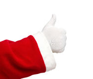Santa Claus showing thumbs up Royalty Free Stock Photos