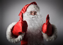 Santa Claus is showing thumbs up. Stock Photography