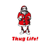 Santa Claus shows fuck. Thug life. Royalty Free Stock Photo