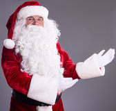 Santa Claus shows gesture Royalty Free Stock Image