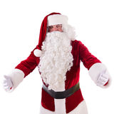 Santa Claus shows gesture Royalty Free Stock Images