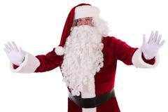 Santa Claus shows gesture Stock Photo