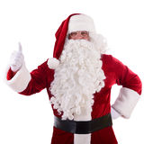 Santa Claus shows gesture Stock Photo