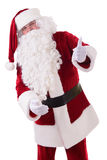 Santa Claus shows gesture Royalty Free Stock Photos