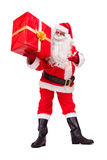 Santa Claus shows gift Royalty Free Stock Photos